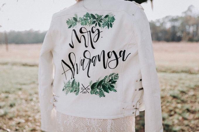 Custom Bridal Leather Jacket
