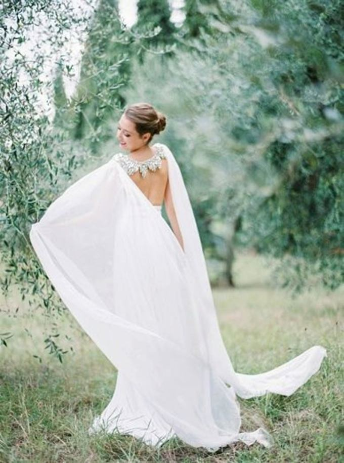 Couture Silk Bridal Cape