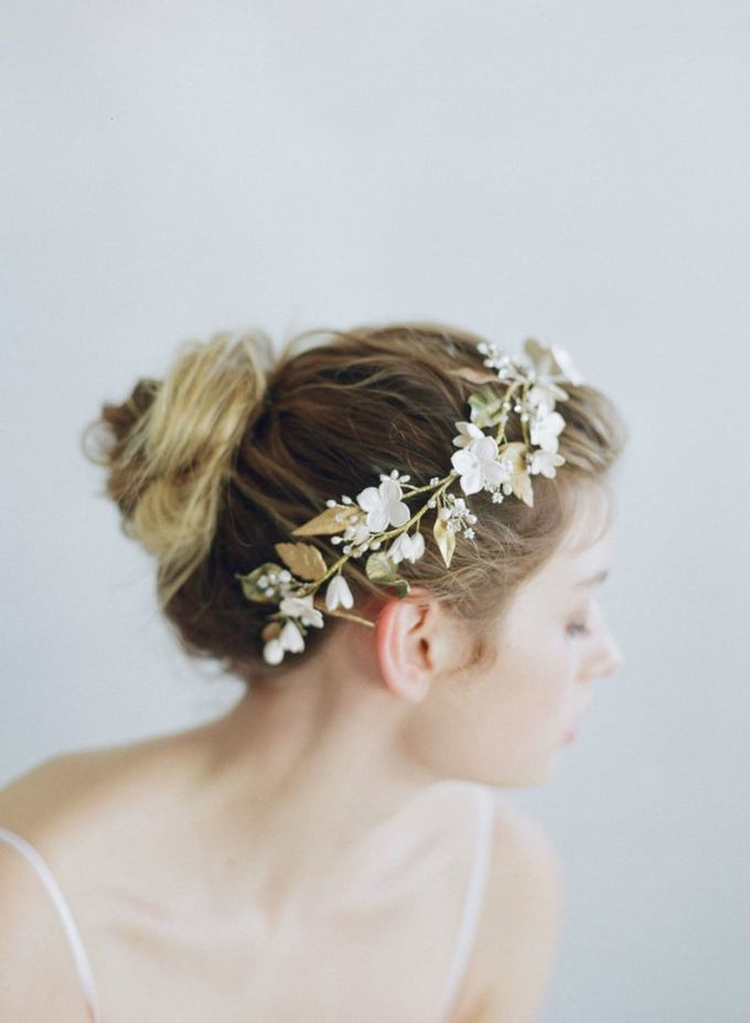 Clay Flower Bridal Headpiece