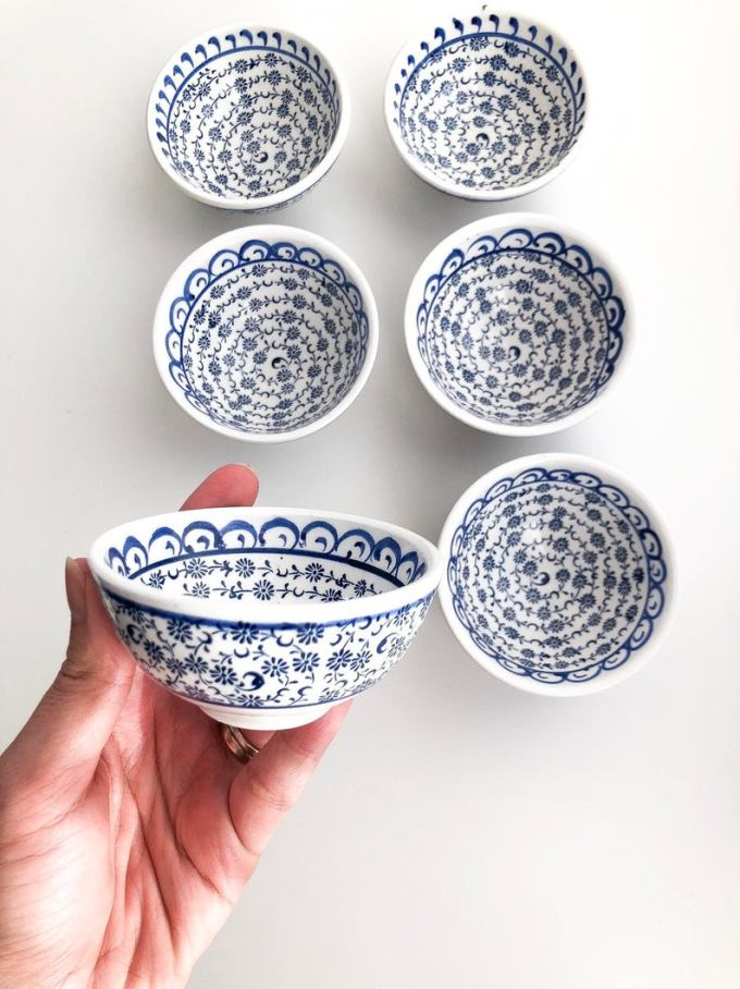 Blue and White Bowl Wedding Favors