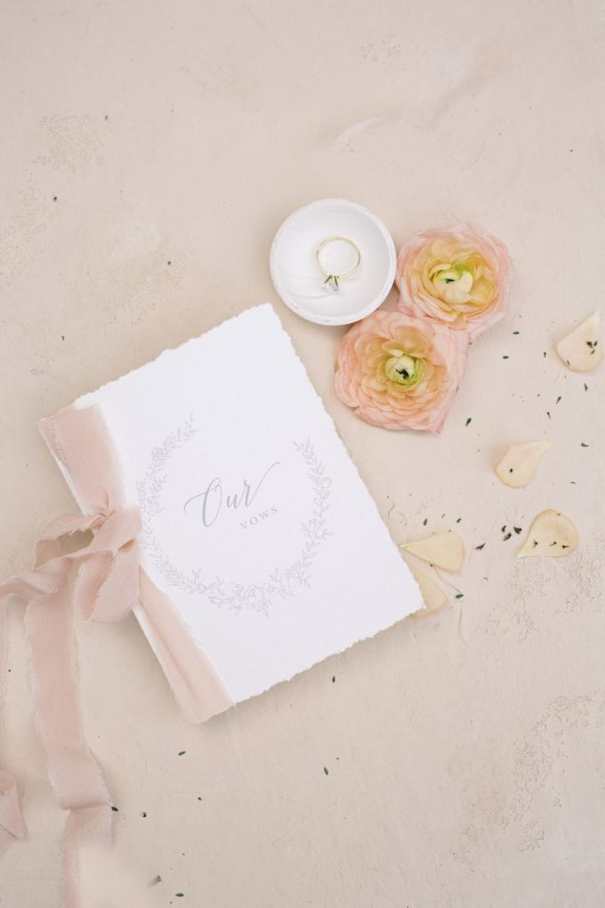 Silk Ribbon Wedding Vow Book