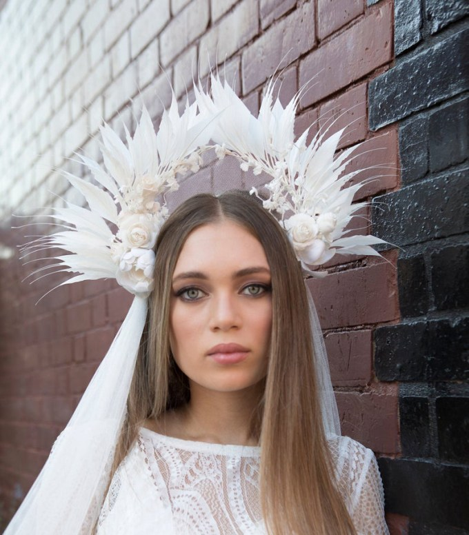 Modern Boho Statement Bridal Headpiece