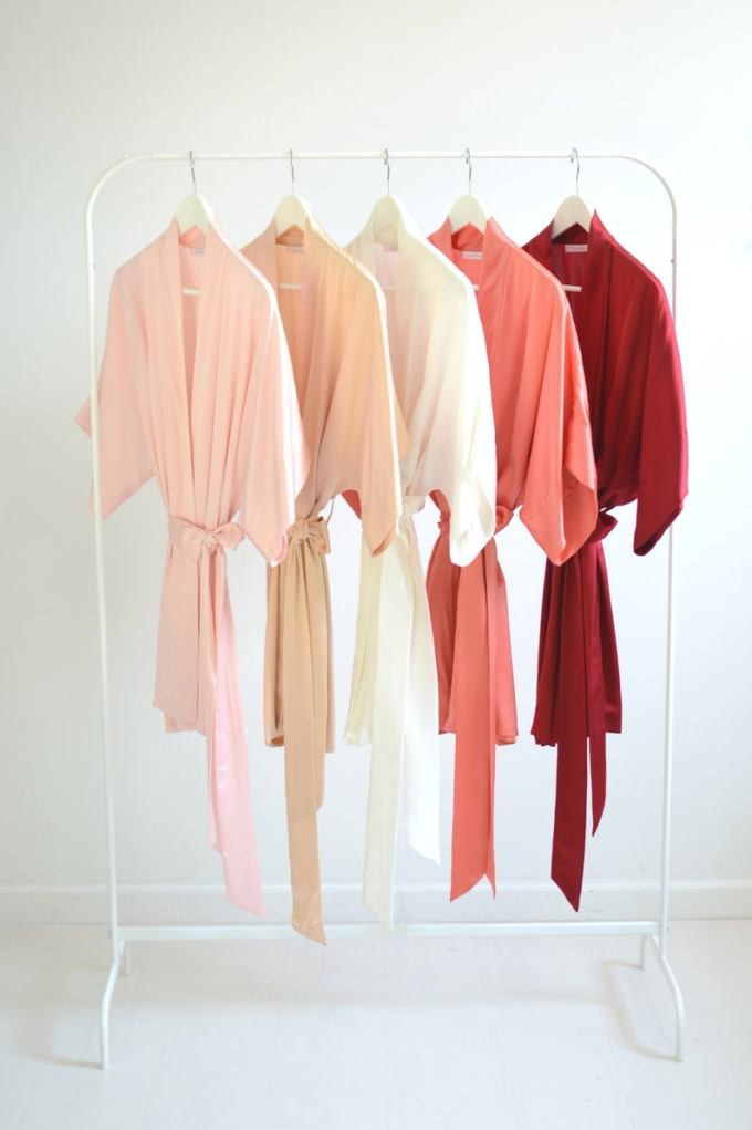 Silk Bridal and Bridesmaids Robe