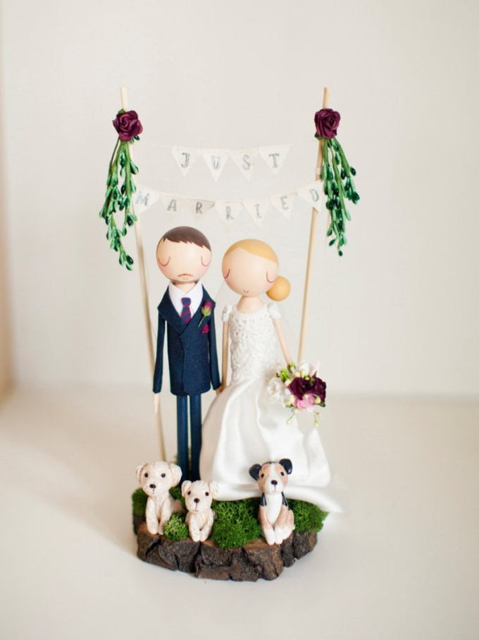 Personalized Rustic Wedding Cake Topper