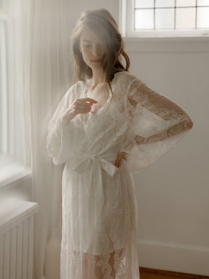 Boho Lace Bridal Robe