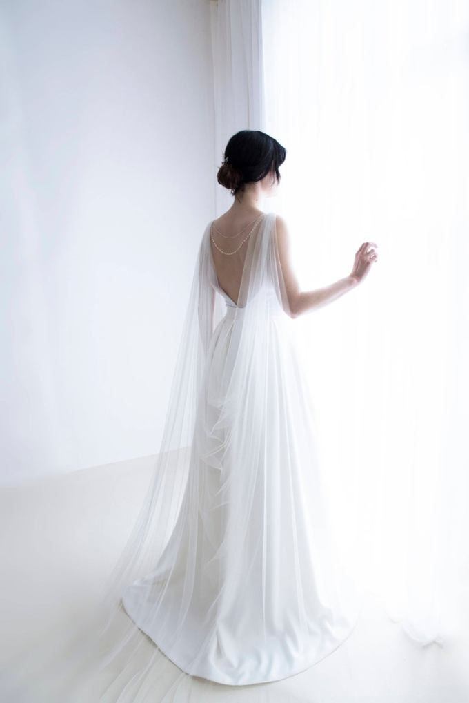 Tulle Bridal Cape