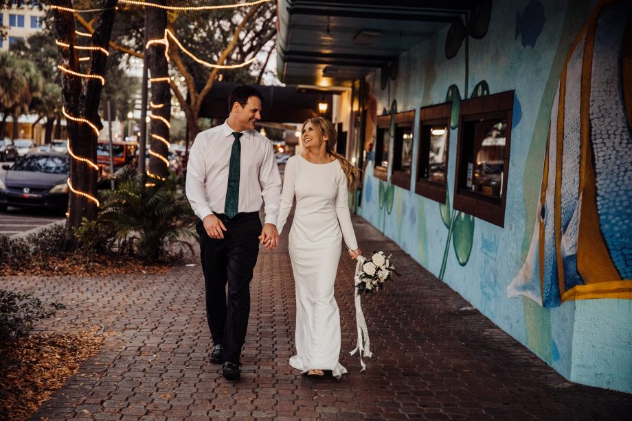 downtown St Pete faux elopement