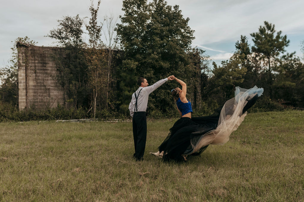 Black Styled Shoot Gown