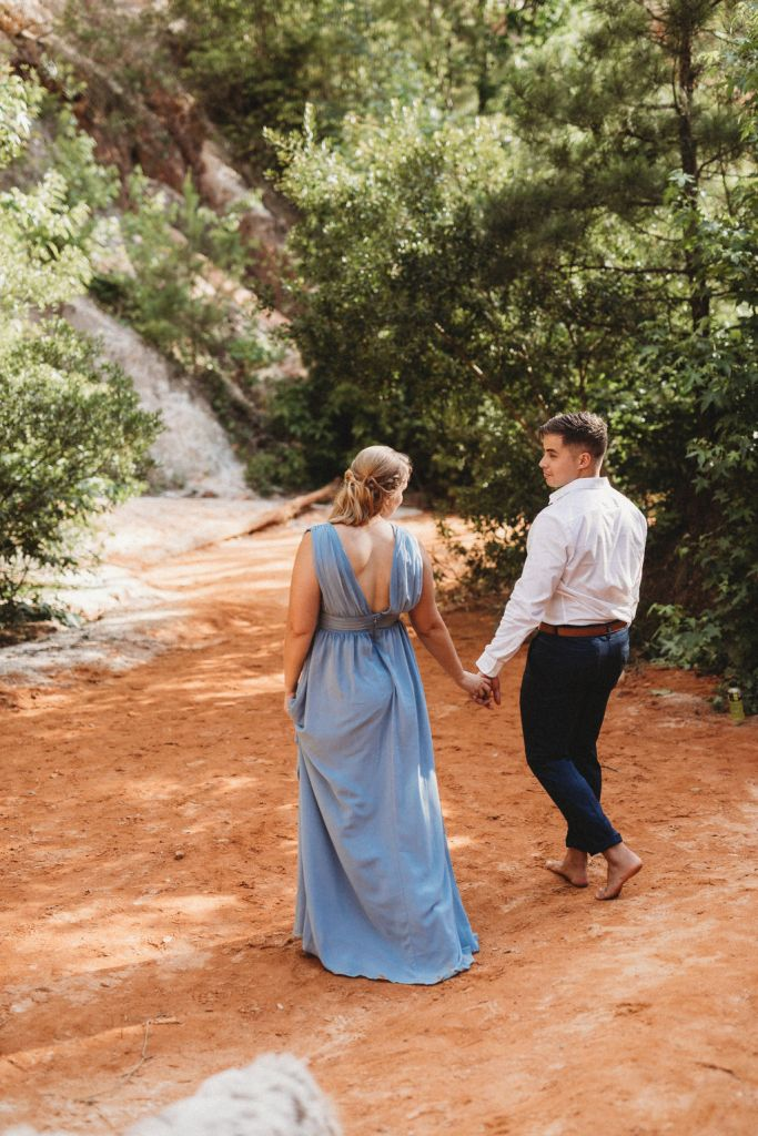 Couples Session at the Little Grand Canyon Georgia Styled Shoot Wedding Portfolio builder Shootout