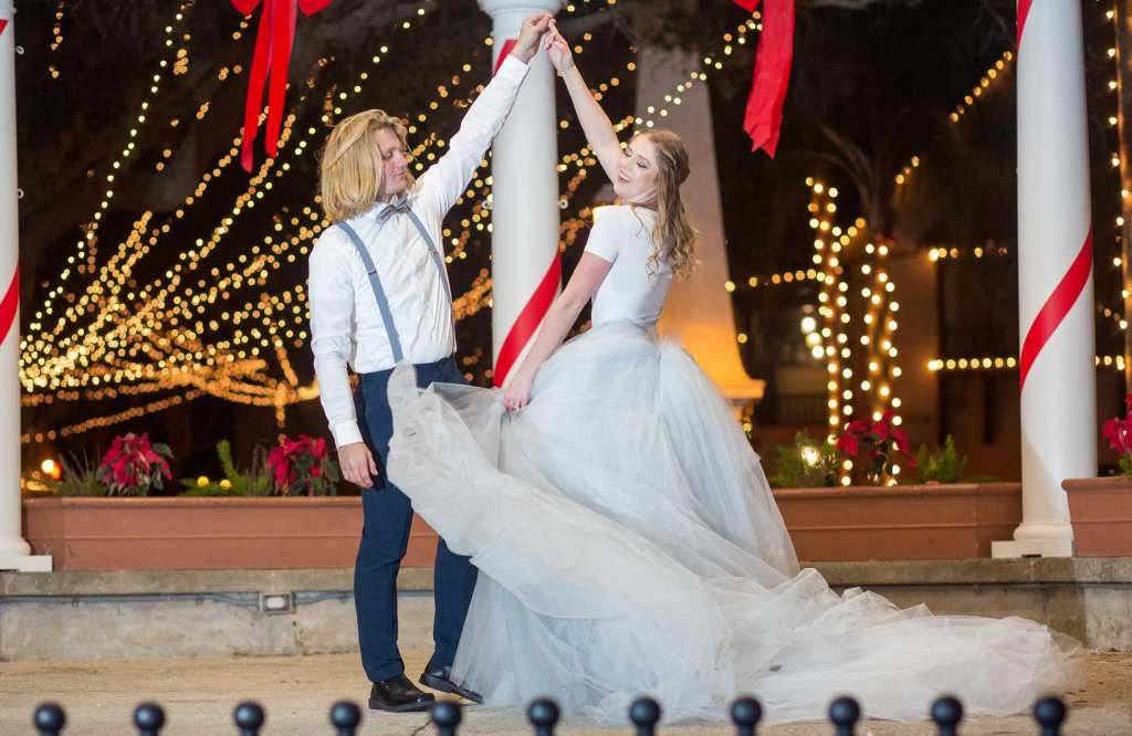 St. Augustine Night of Lights Styled Elopement