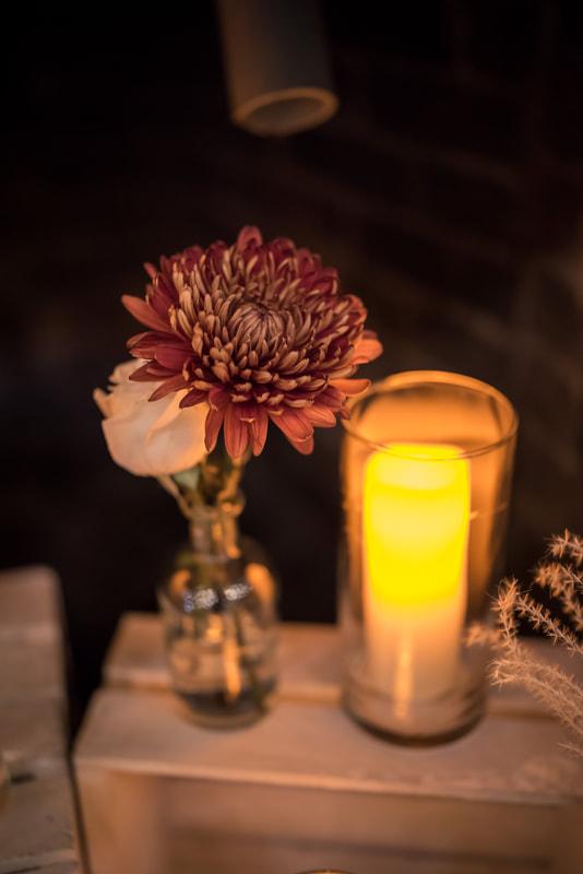 fall decor stanley park brewing, taffete designs, candles , dahlias, charity dinner, RMHBC