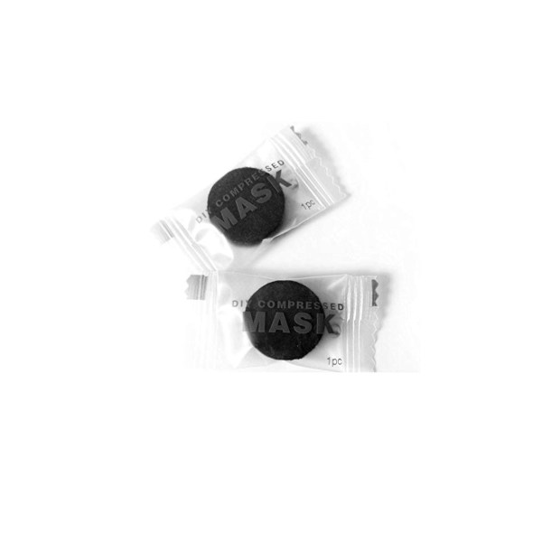 Bamboo Charcoal Compressed Face Mask Sheet 2pc