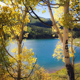 Enjoying a peaceful day on the lake. Sylvan Lake SP, Eagle CO.