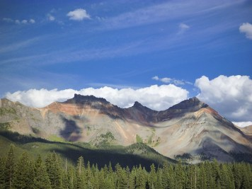 Mountain view from camp, Matterhorn Campground, Telluride, CO.