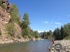Fly fishing on the Crystal River. Redstone Campground, Carbondale, CO
