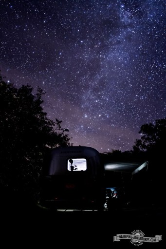 Nigh time sky with milky way. Redstone Campground, Carbondale, CO