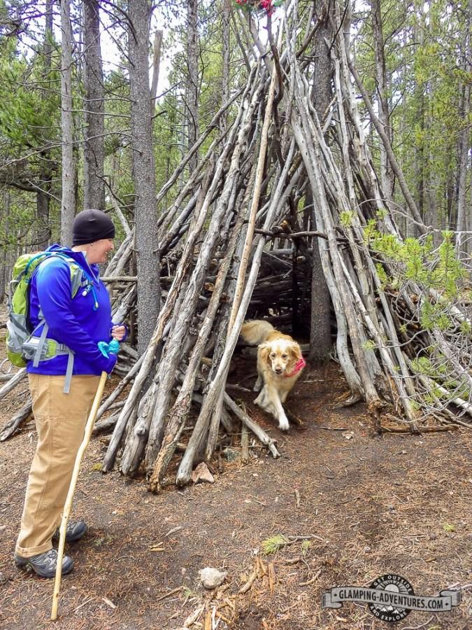Shelters along the trail. Kenosha Pass, CO