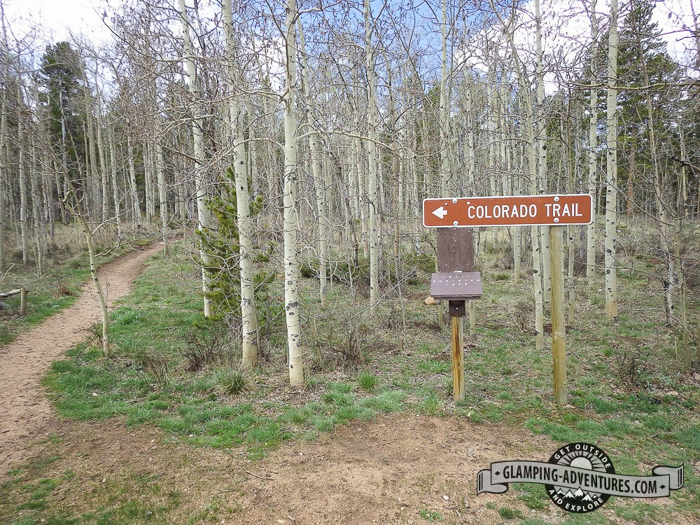 Beginning of section 6, Colorado Trail. Kenosha Pass, CO