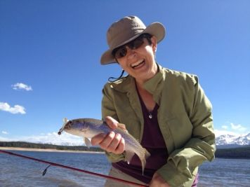 Catching lots or rainbow trout. Turquoise Lake, Leadville, CO