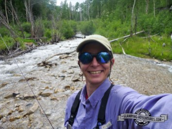 Natasha in the Cottonwood Creek, Collegiate Peaks.