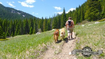 Hiking though the meadow on Mule Dear trail, GGCSP.
