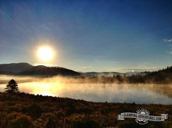 Morning at Steamboat Lake State Park.