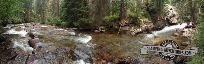 Hiking behind the Gore Creek CG.
