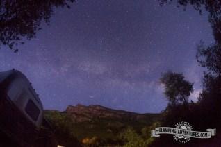 Milky Way above the Airstreams.
