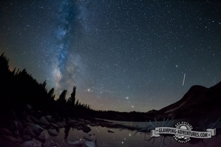 Milky Way over Libby Lake. Sugarloaf Rec. Area, WY.