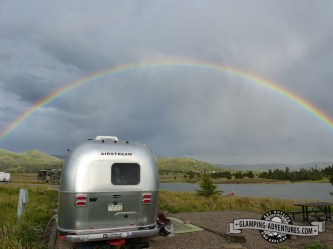 Huge rainbow over our site :)