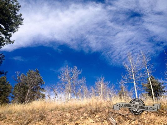 Beautiful blue skies! Mule Deer Trail. Golden Gate Canyon S.P.