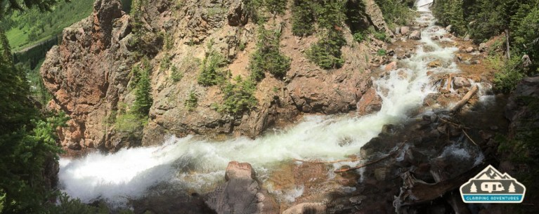The Falls are fast and furious. Booth Falls, Vail CO.
