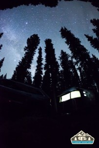 Night sky. Cobbett Lake CG, Grand Mesa CO.