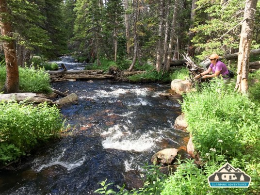 Perfect size creek for us. S. St. Vrain.