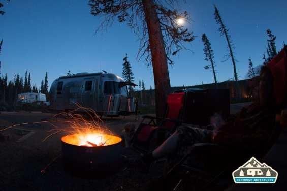 Enjoying the evening fire. Pawnee CG.