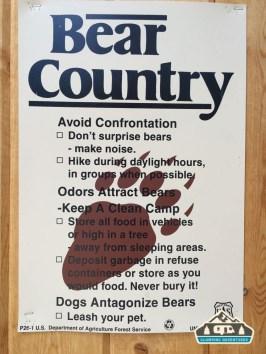 DOW Bear County sign.