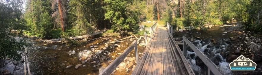 Bridge along the trail. Chambers Lake C.G.