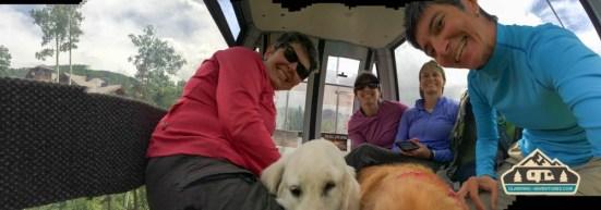 Everyone takes the gondola around!