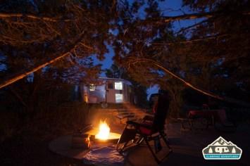 Enjoying a campfire. Ridgway S.P.