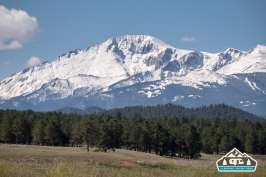Pikes Peak from Manitou Recreational Area, CO.