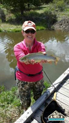 Nice Cutbow Trout! Manitou Recreational Area, CO.
