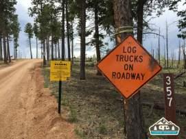 Logging operations. Westcreek Rd., CO.