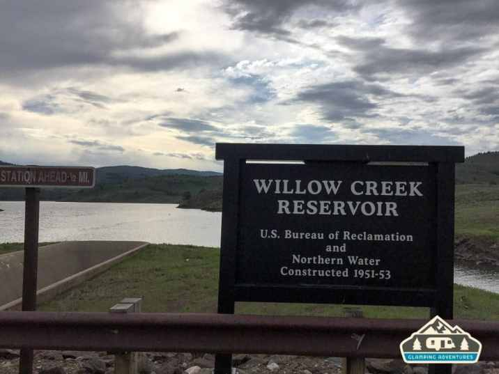 Willow Creek Reservoir. Willow Creek C.G, CO.