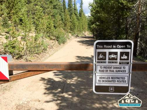 D'OH! Closed road on the way to Lost Lake. Grand Lake, CO.