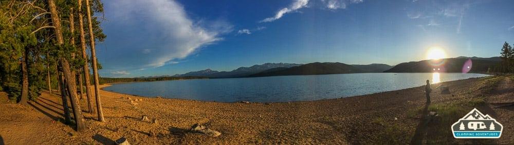 Setting sun. Turquoise Lake, Leadville, CO.