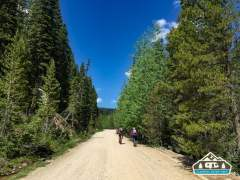 Crazy bikers-- TONS of dust on this road. Hagerman Pass Rd. Leadville, CO.