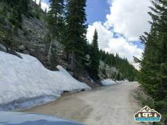 Yay, snow! Hagerman Pass Rd. Leadville, CO.