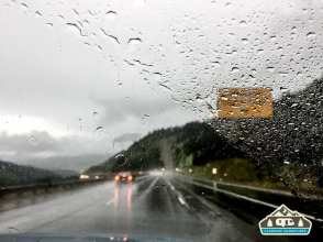 Stormy drive into Dillon, CO.