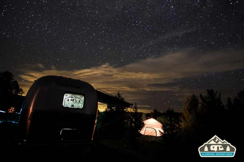 Night sky over the campsite. Heaton Bay C.G., Colorado.