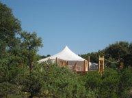 Tente Khaïma Ouadane au glamping Le Campement Tamana à Bidon en Ardèche